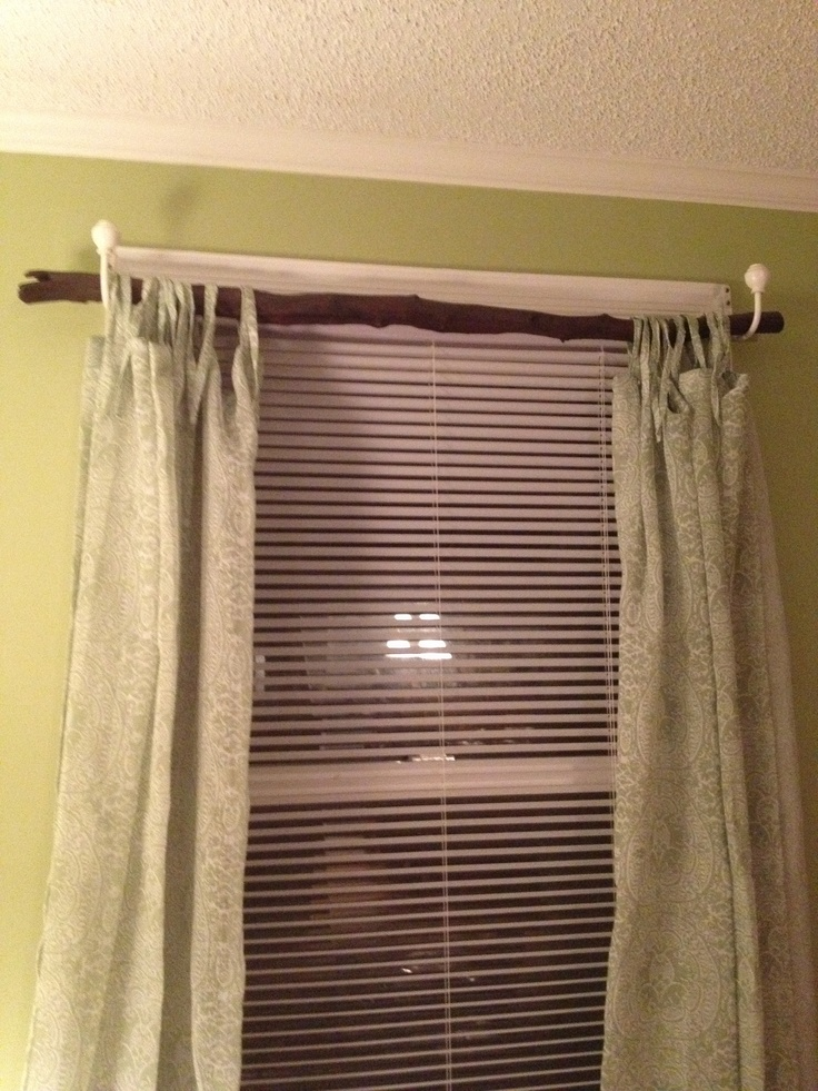 Tree branch curtain rod  My creations and crafts