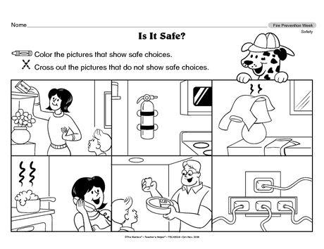 7 best Safe and unsafe worksheets for kids images on Pinterest
