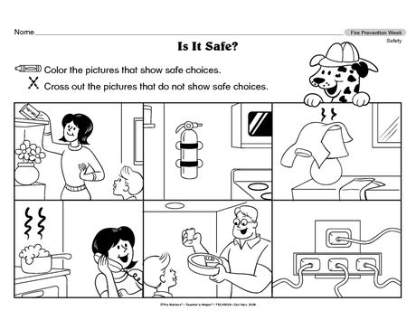 17 Best images about Safe and unsafe worksheets for kids