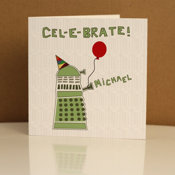 Doctor Who Dalek Birthday Card Dr Who Bbc