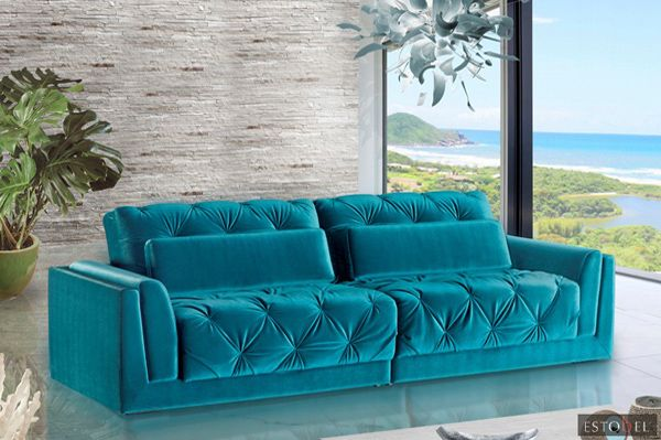 leather chair pads deck chairs for boats sofá azul turquesa   design: busca da forma de sensibilizar a alma! pinterest