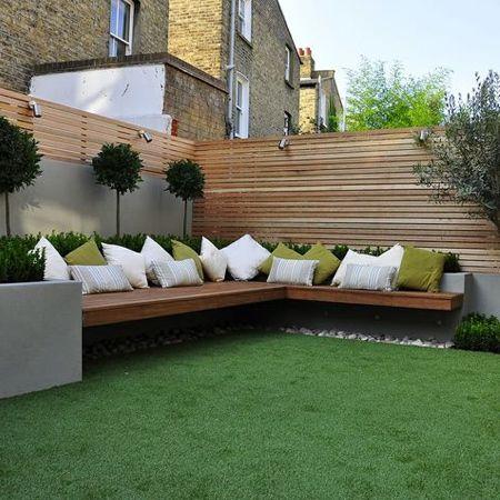 Modern Built In Garden Benches Garden On Home Dzine Pinterest