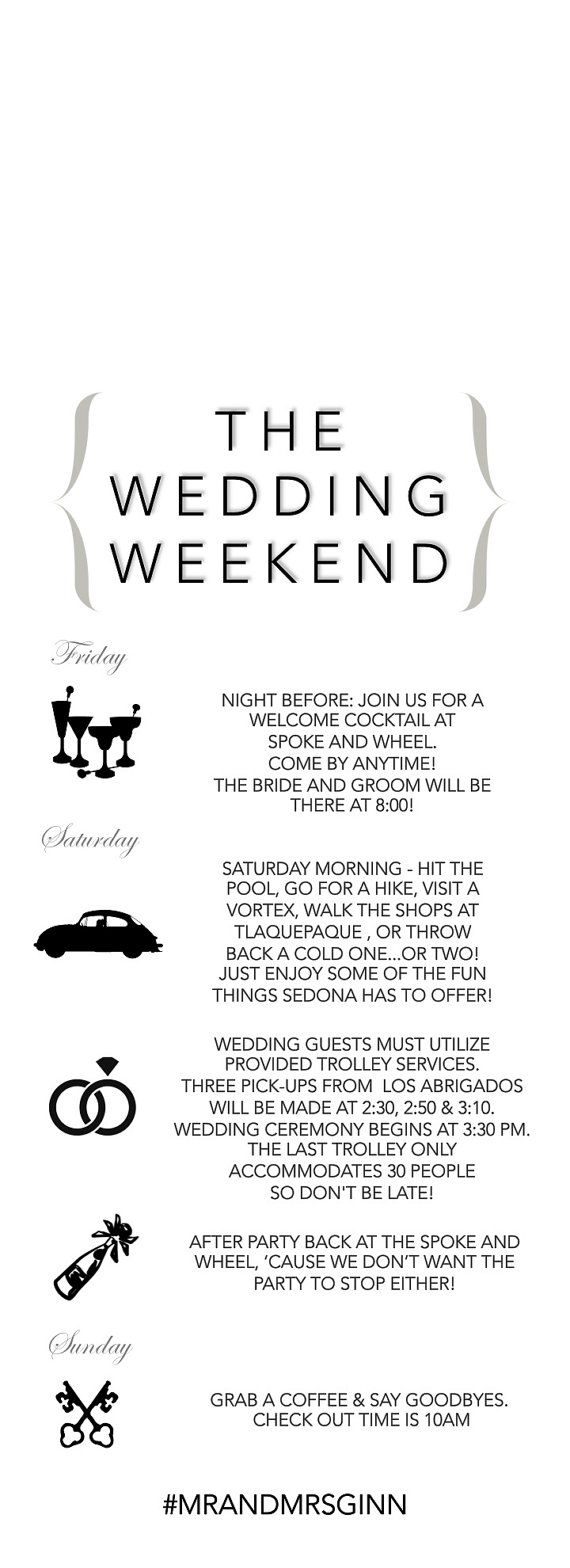25+ best ideas about Wedding weekend itinerary on