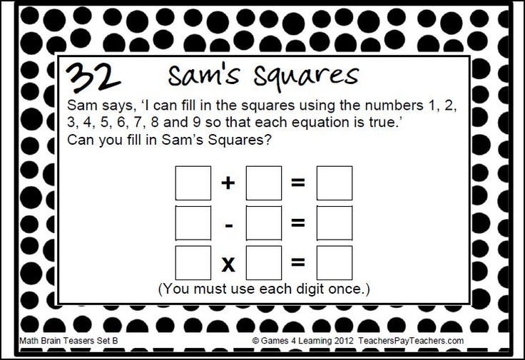 32 best images about Brain Teasers for the Season on