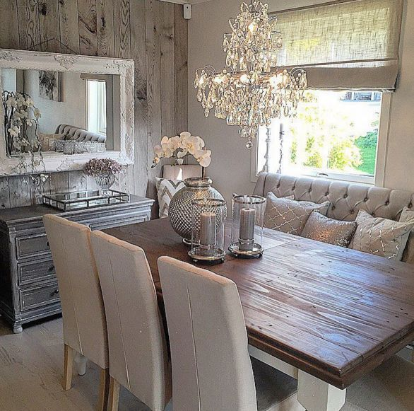 Rustic glam dining space  Home Decor Inside  Outside