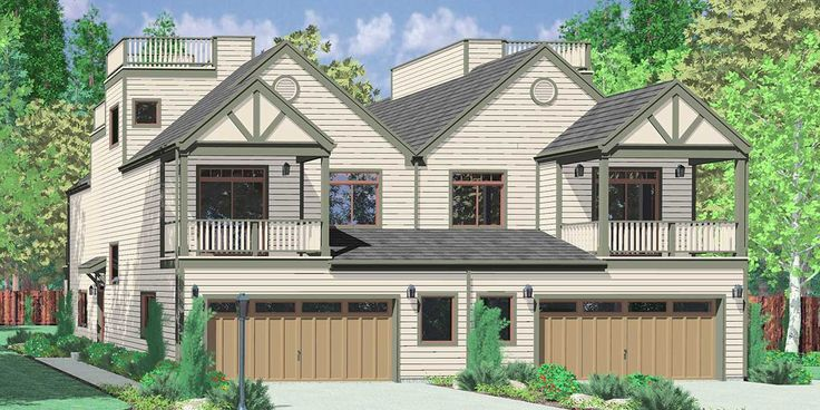 House Front Color Elevation View For D 432 Mediterranean
