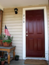 """""""chipotle paste"""" Behr paint for new door color 