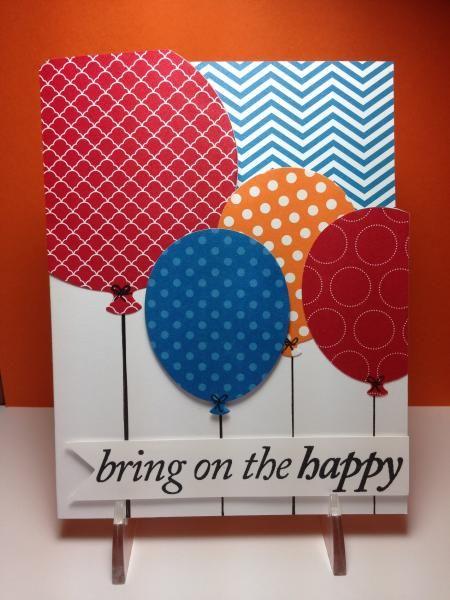 Handmade Birthday Card Bring On The Happy Balloons Big
