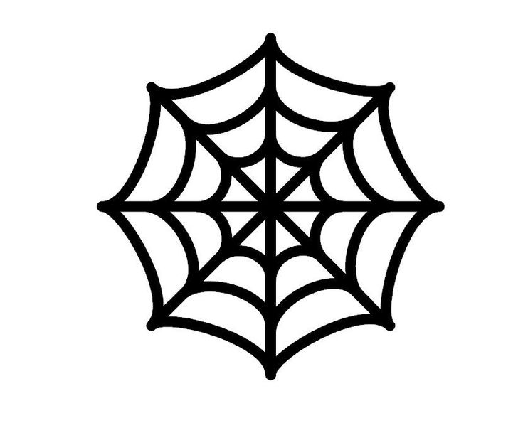 Spider Web Cut Out Template