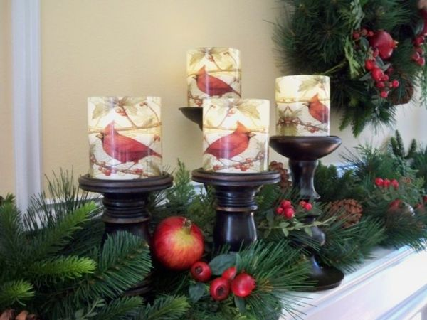 Set of four flameless candles by Valerie Parr Hill QVC