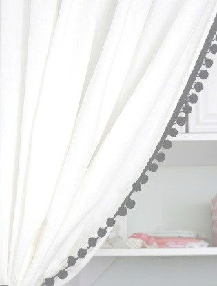 The 25 Best Ideas About Pom Pom Curtains On Pinterest Curtains