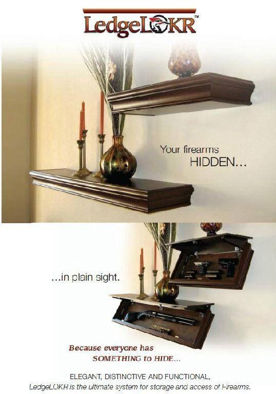 Floating Shelf Hidden Gun Case For The Home