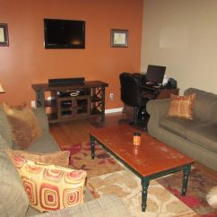 Brown Paint Colors For Living Room Curtains With Valance New Hardwood Floors, (behr-glazed Pot On Accent ...