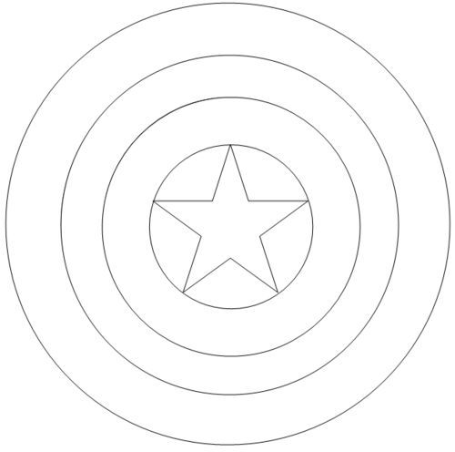 Captain America Shield Coloring Pages Captain america on