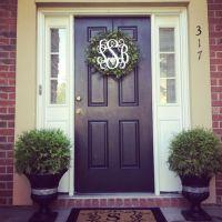 Monogram Wreath for front door :)   For the Home ...