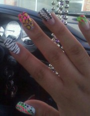 random ghetto nails lol