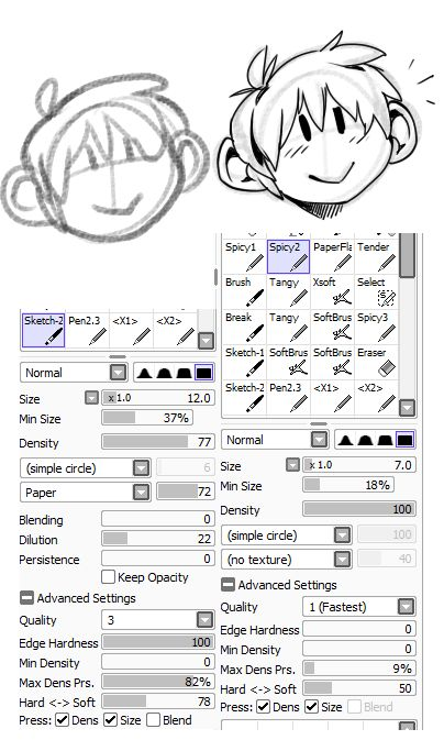 17 Best images about Paint Tool Sai Brushes on Pinterest
