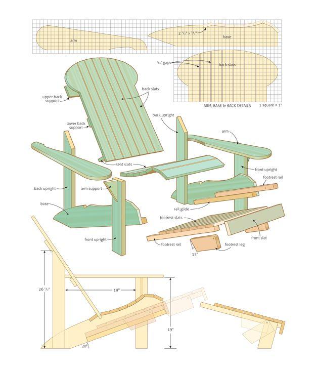 adirondack chair bauanleitung - boisholz, Garten und bauen
