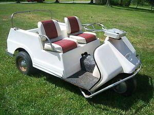 Harley Davidson gas Golf Cart mid 60s vintage car for