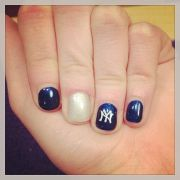 york yankee nail art