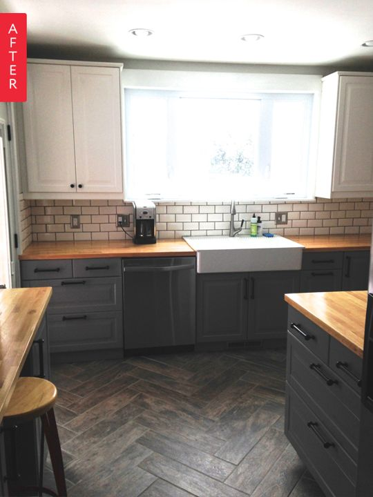 """Before & After: """"Single Wide"""" Kitchen Opens Up 