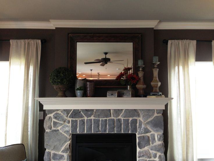 Paint color on Fireplace Wall Monterey Cliffs Glidden