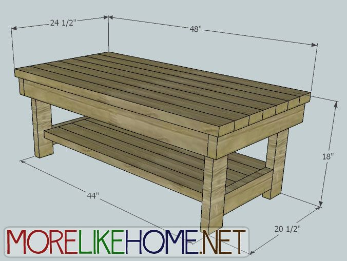 How To Build A Coffee Table Out Of 2x4