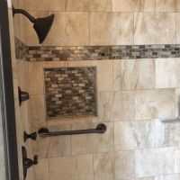Ultimate master bath remodel with custom tile, corner