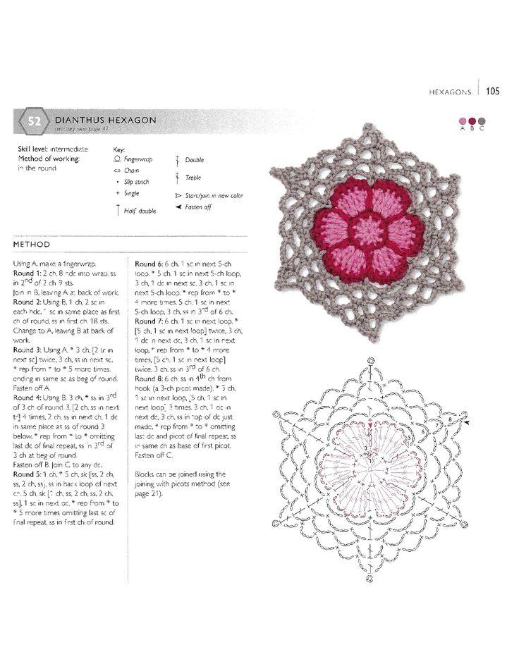 3969 best images about Crochet Motifs: Flowers on