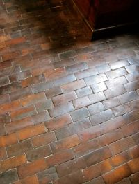 Wood floor, looks like bricks! | decorating | Pinterest ...