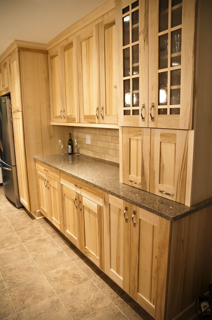 WoodMode Natural Maple Cabinets  Kitchens  Pinterest