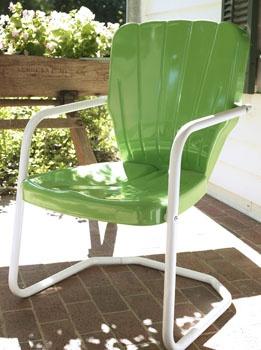 thunderbird metal lawn chair torrens mfg seafoam green
