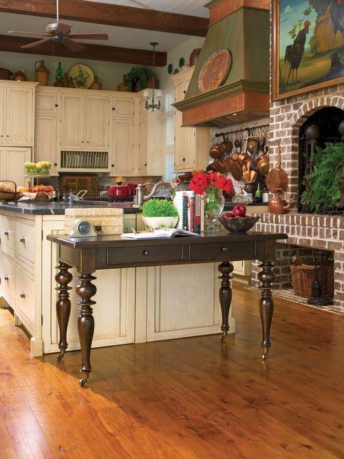 Paulas Kitchen Brick Kitchen Fireplace Home Pinterest Posts Kitchen Fireplaces And