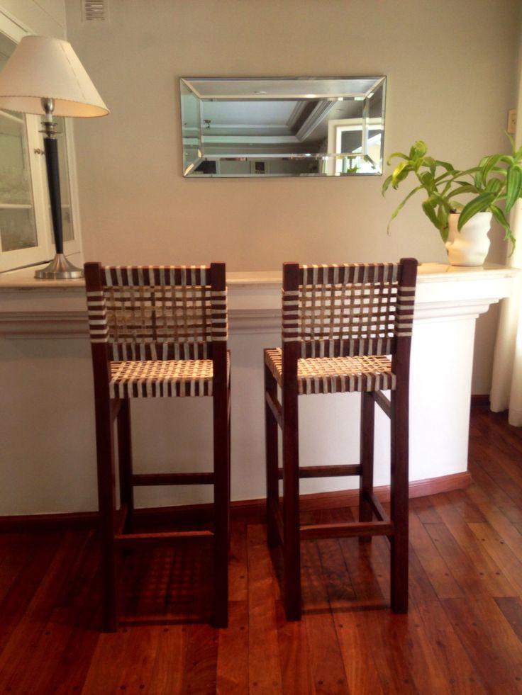 Banquetas altas para bar  decoracion para el hogar  muebles de campo  casa de campo  madera y cuero  sillas  Tucumn Argentina  Pinterest