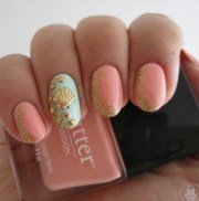 cute beach nail design l