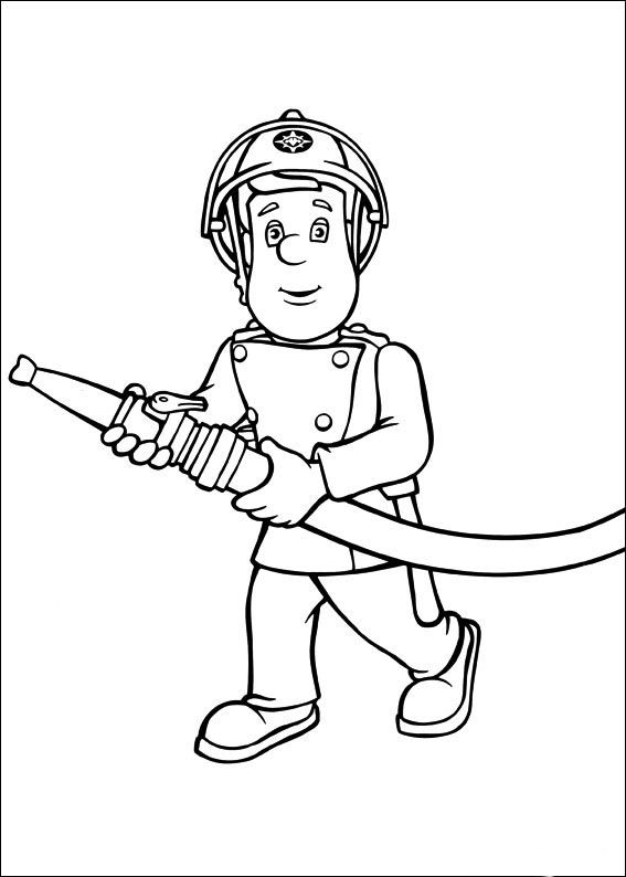17 Best images about Fireman Sam Coloring Pages on