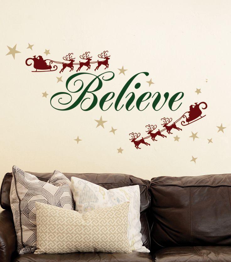 DCWV Home Christmas Wall Decal: Believe Christmas Decor