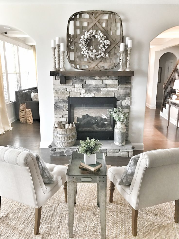 Fireplace decor Farmhouse and fixer Upper style IG