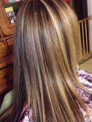 three color foil hair sara's