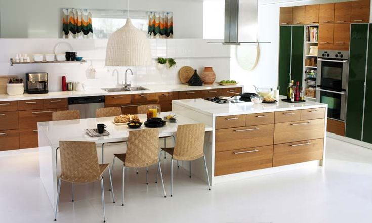 Kitchen Island with Table Attached