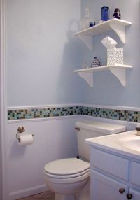 For bathroom re-do in rental. Use the 4x4 shower tile to ...