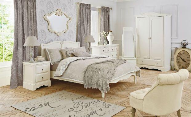 shabby grey bedrooms  Interior Shabby Chic Bedroom
