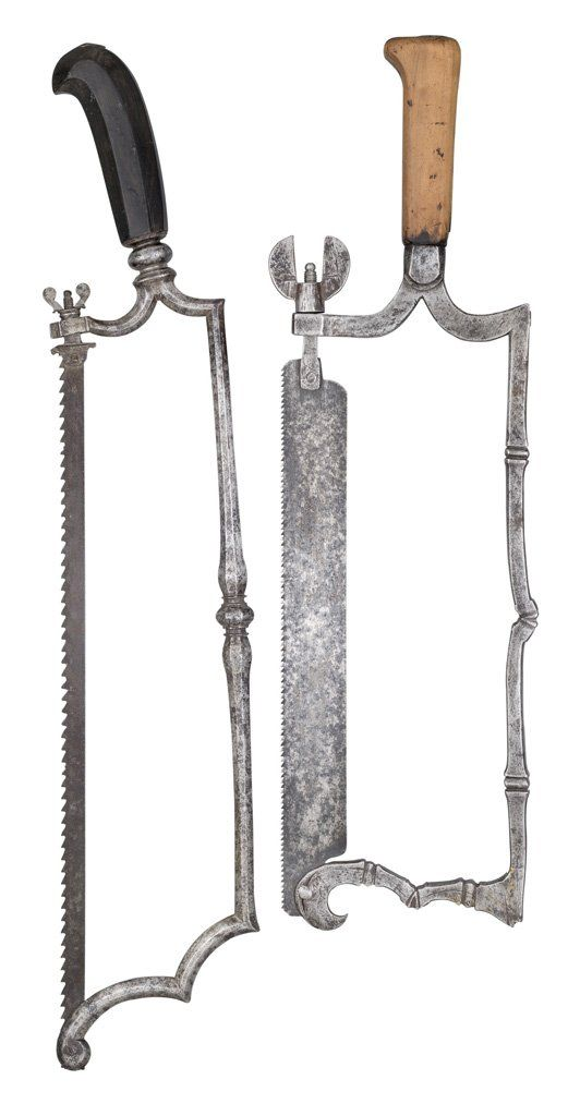 TWO SAWS, LATE 17TH/ 18TH CENTURY, PROBABLY FOR HUNTING OR