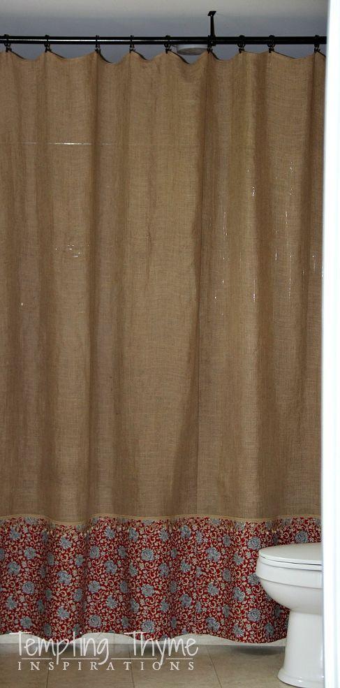 17 Best Ideas About Burlap Shower Curtains On Pinterest Burlap