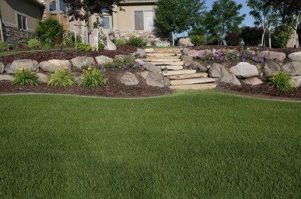 tiered yard landscaping