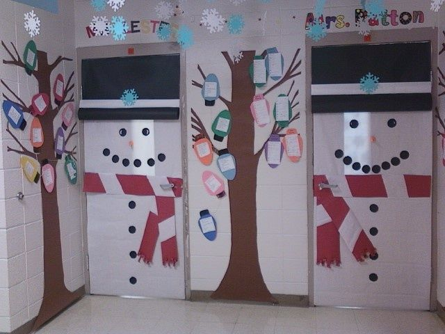 Christmas Snowman Classroom Door Decorations