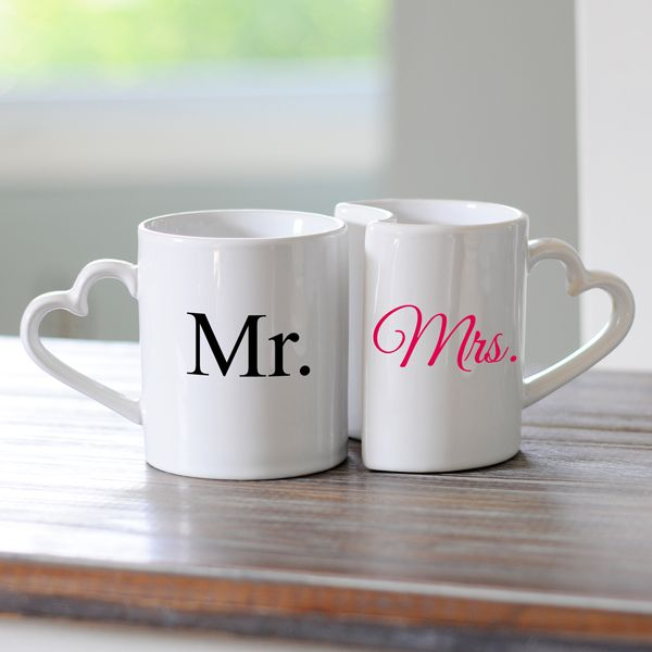 Mr. and Mrs. Coffee Mug Set. I love these mugs they are the cutest.