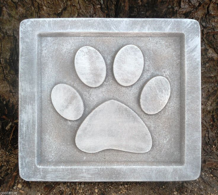 paw print stepping stones
