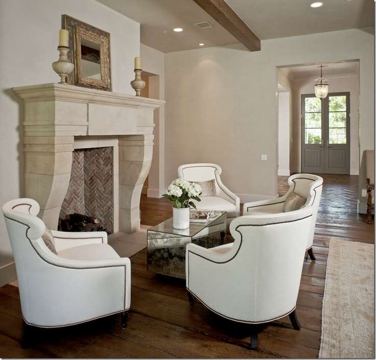 I love this seating area around the fireplace I can see