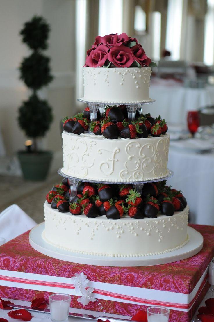 Best 25 Strawberry wedding cakes ideas on Pinterest